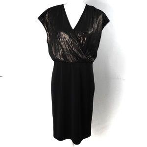 K30 Narciso Rodriguez Wrap Dress Black Copper L